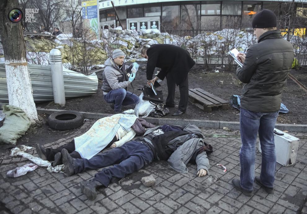 Мертвые протестующие Киева