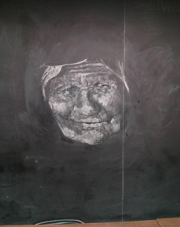 Креатив мелом на доске