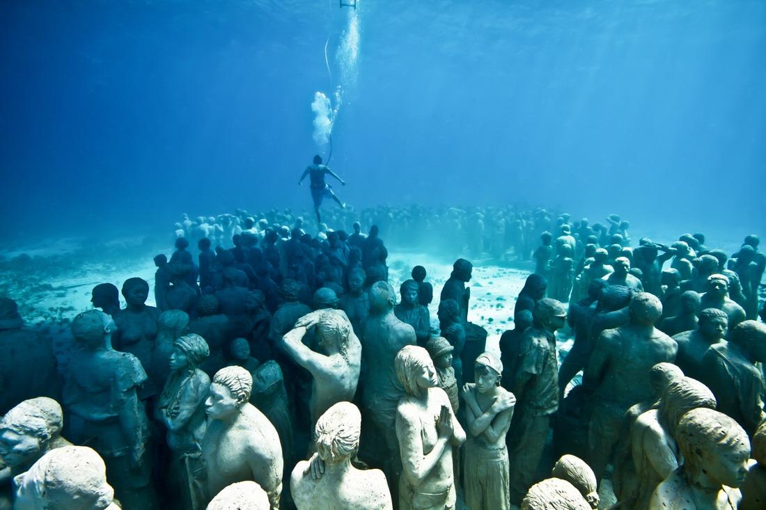 Подводный музей в Канкуне (50 фото + видео)